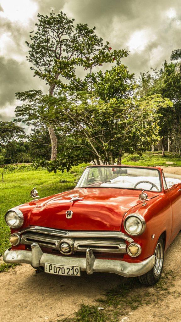 cuba red vintage car wallpaper 720x1280 576x1024 - Pack Fondos de Pantalla de Coches Clasicos