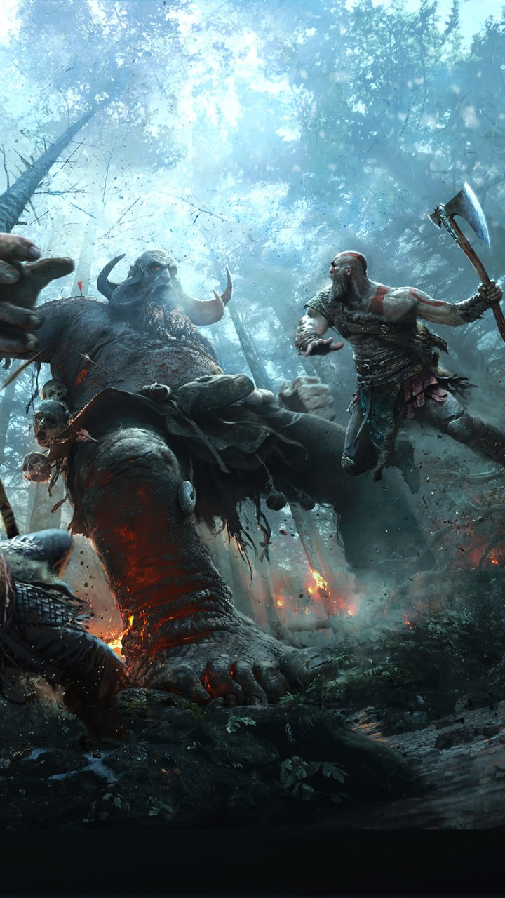 god of war 720x1280 ps4 kratos son atreus 1128 - Pack de Fondos de Pantalla de God of War