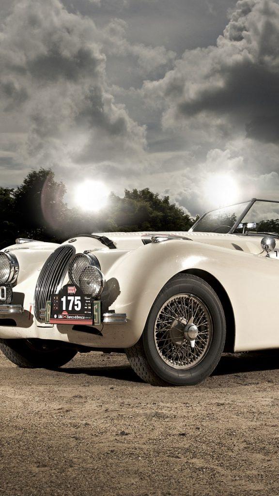 jaguar xk120 720x1280 classic cars jaguar retro sports car cabriolet 2219 576x1024 - Pack Fondos de Pantalla de Coches Clasicos