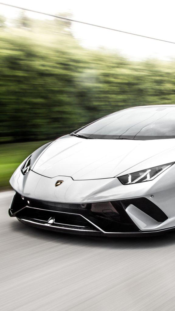 white lamborghini huracan 5k 6g 720x1280 576x1024 - Fondos de Pantalla de Lamborghini