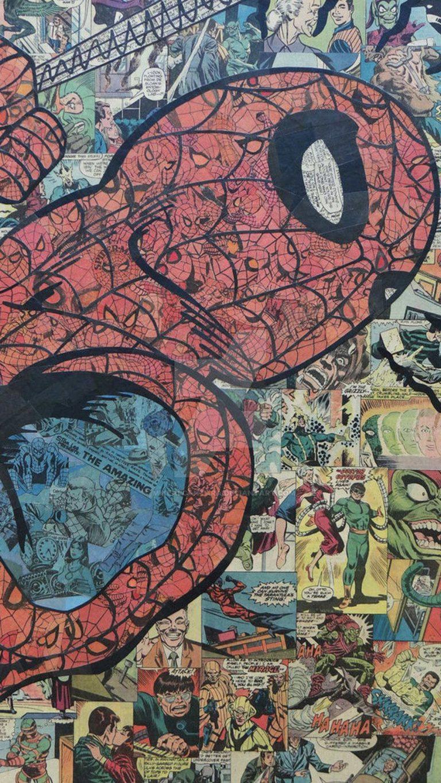 Spiderman comic d48cb590 2ee3 36ac bd3c c684aca3ceb5 768x1365 - Pack de Fondos de pantalla Spiderman para celular