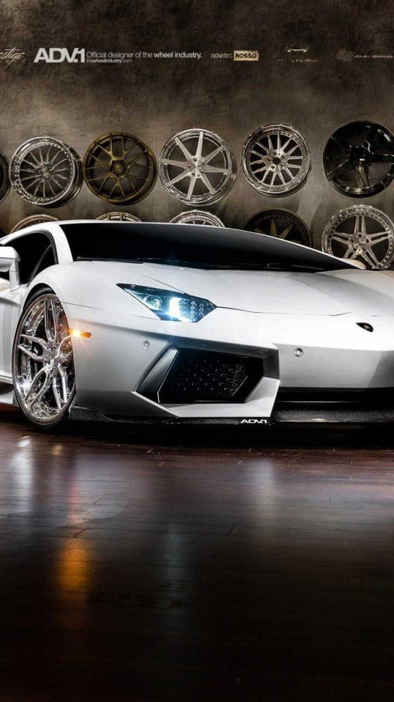 lamborghini aventador on adv1 wheels 720x1280 576x1024 - Fondos de Pantalla de Lamborghini