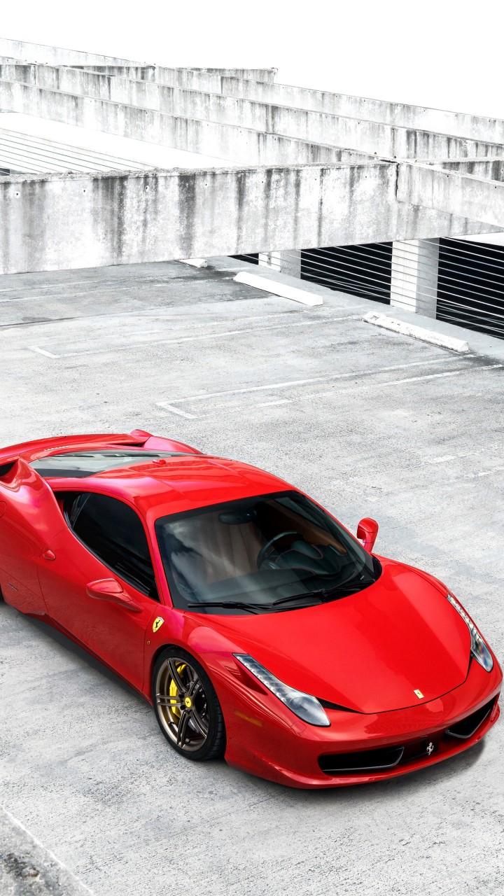 ferrari 458 4k 720x1280 - Fondos de pantalla de Ferrari