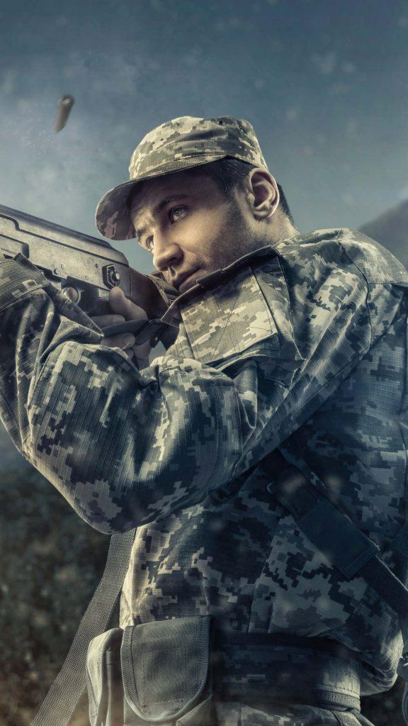 army man with gun 8k th 1080x1920 576x1024 - Fondos de Pantalla de Videojuegos de Guerra