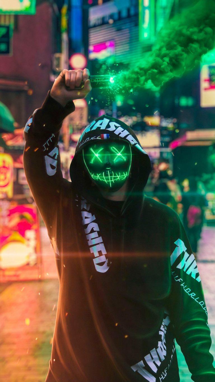 """Fondos de pantalla """"Neon Mask"""""""