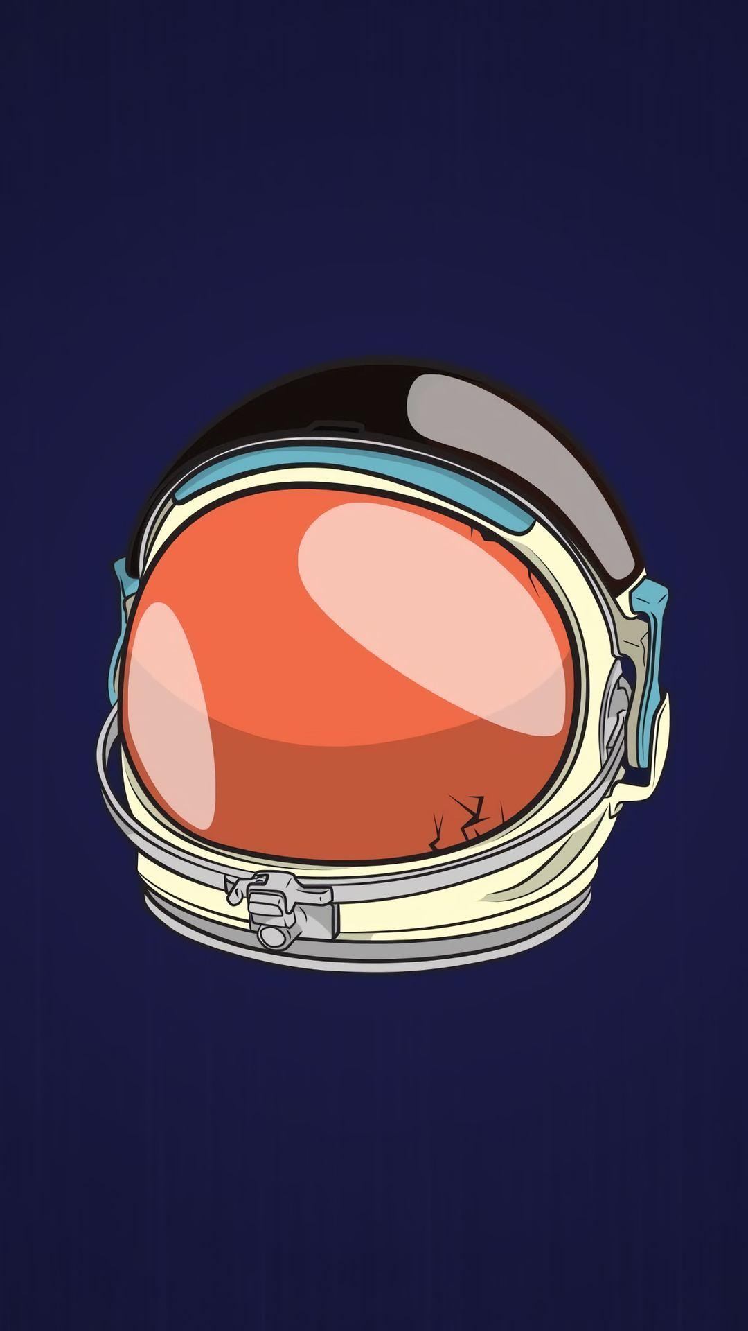 astronaut helmet minimal 4k q9 1080x1920 - Pack de Fondos de Pantalla Minimalistas (+100 Imagenes)