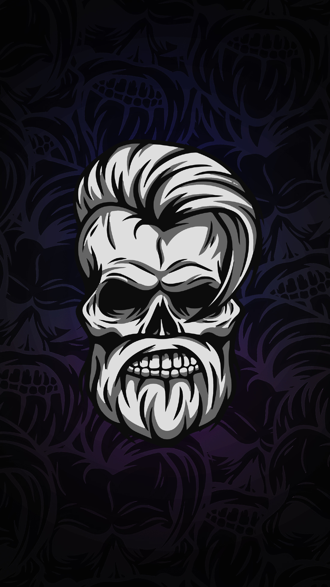 beard skull dark 4k j7 1080x1920 - Pack de Fondos de Pantalla Minimalistas (+100 Imagenes)