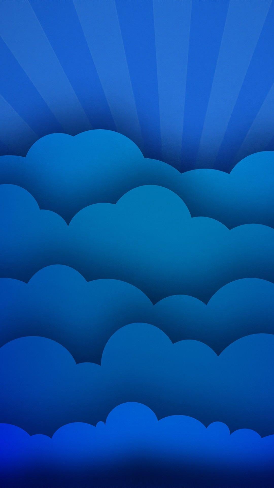 blue clouds minimal art 4k xk 1080x1920 - Pack de Fondos de Pantalla Minimalistas (+100 Imagenes)