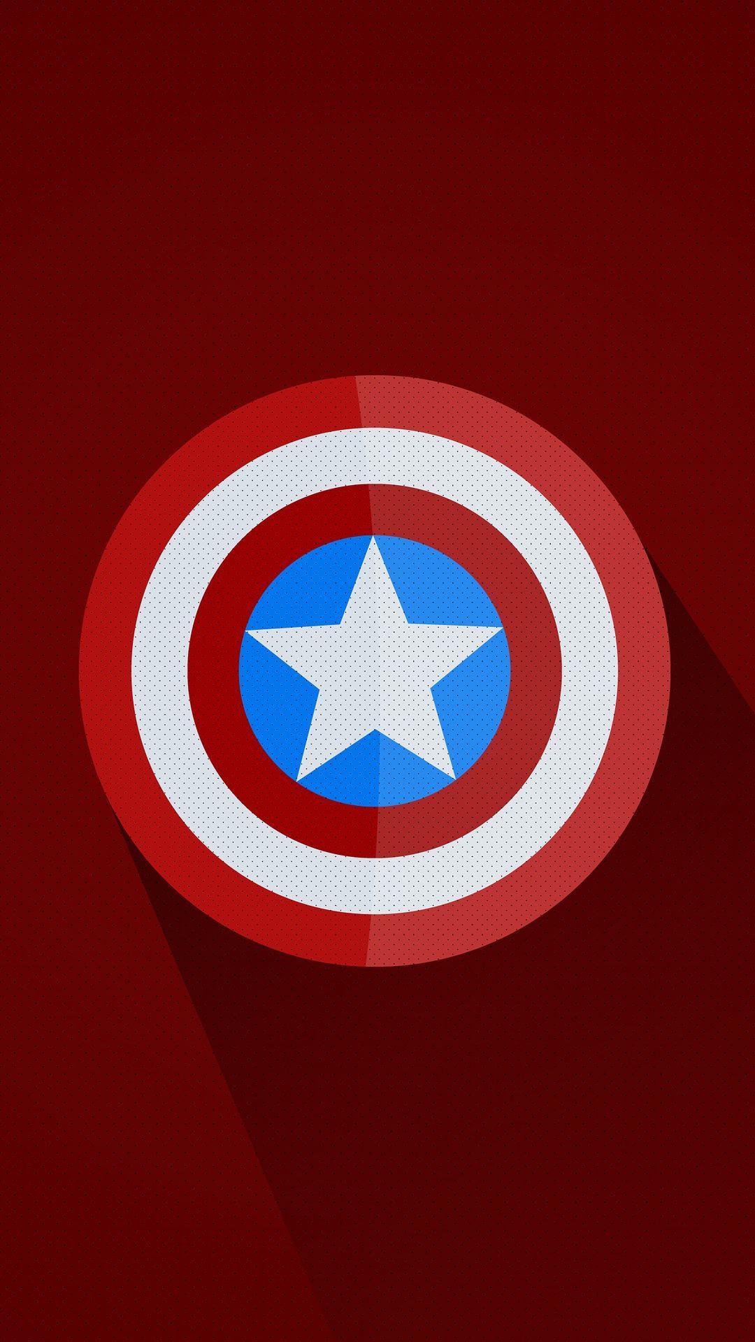 captain america minimal logo 5k 92 1080x1920 - Pack de Fondos de Pantalla Minimalistas (+100 Imagenes)