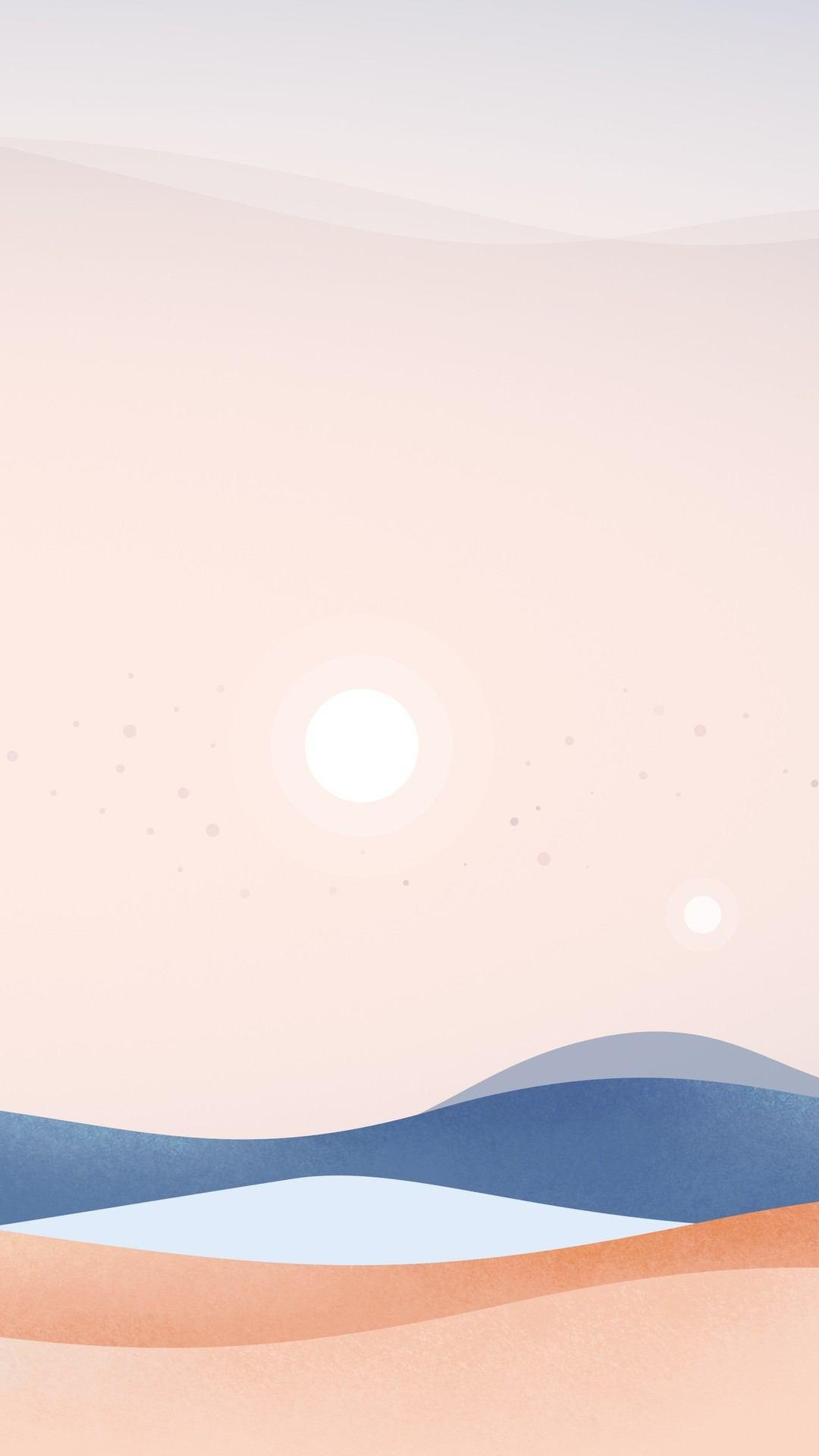 dunes dusk minimal 5k gp 1080x1920 - Pack de Fondos de Pantalla Minimalistas (+100 Imagenes)