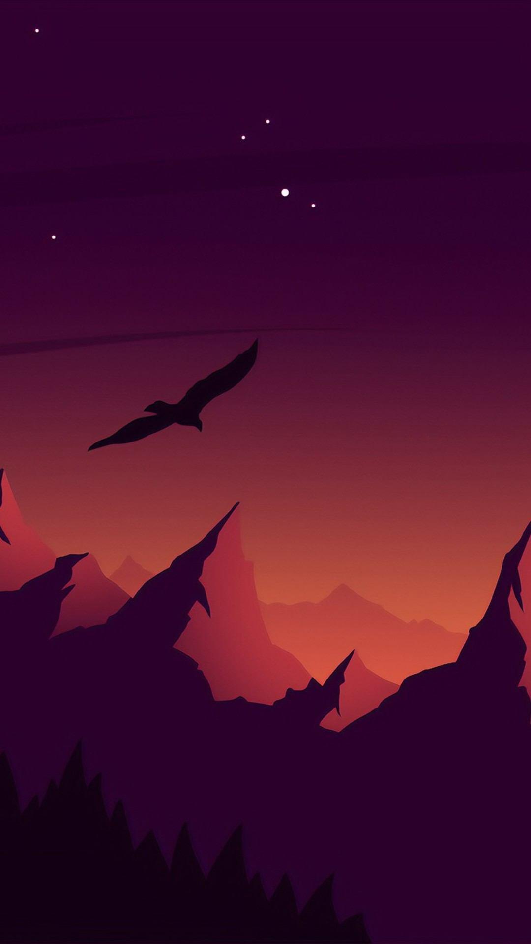 eagle landscape mountains minimalist ez 1080x1920 - Pack de Fondos de Pantalla de Montañas