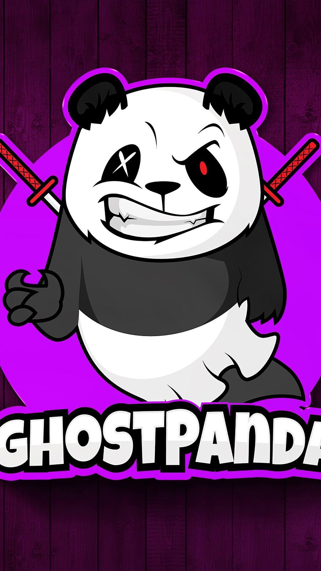 ghost panda 4k wi 1080x1920 - Pack de Fondos de Pantalla Minimalistas (+100 Imagenes)