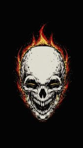 ghost rider minimal background 5k tq 1080x1920 169x300 - Pack de Fondos de Pantalla Minimalistas (+100 Imagenes)