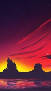 minimal sunset landscape 4k w5 1080x1920 169x300 - Pack de Fondos de Pantalla Minimalistas (+100 Imagenes)