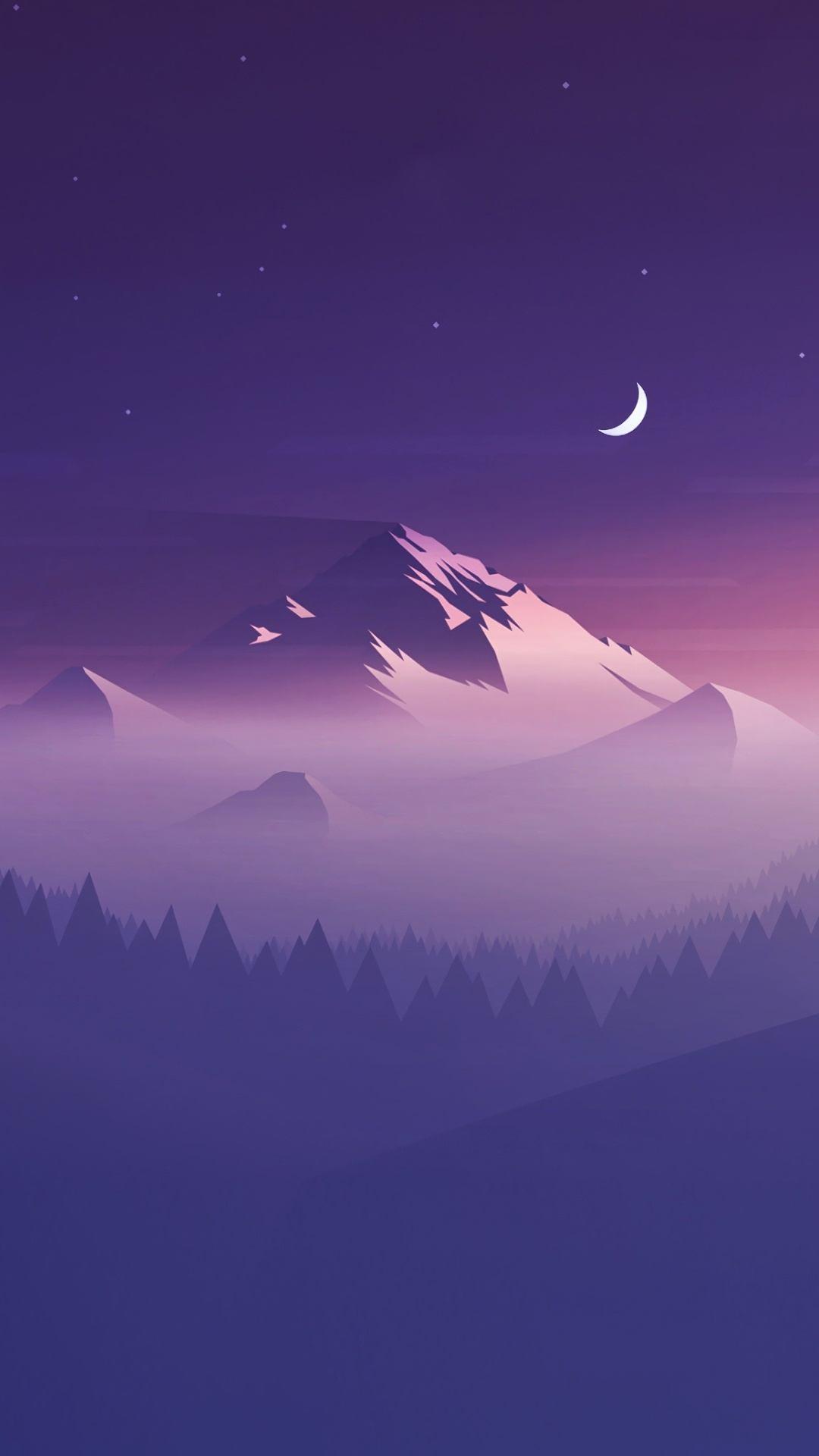 mountains minimalists 4k vx 1080x1920 - Pack de Fondos de Pantalla de Montañas