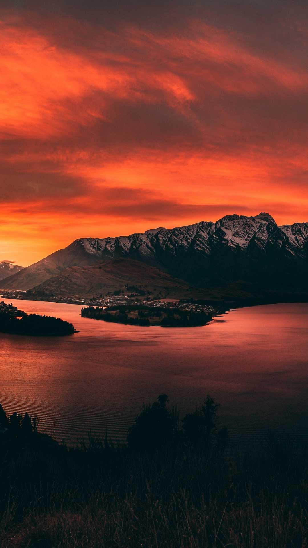 mountains sunset lake 133861 1080x1920 - Pack de Fondos de Pantalla de Montañas