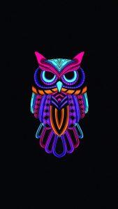 owl minimal dark 4k wd 1080x1920 169x300 - Pack de Fondos de Pantalla Minimalistas (+100 Imagenes)