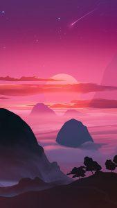 pink sunset minimal 4k qb 1080x1920 169x300 - Pack de Fondos de Pantalla Minimalistas (+100 Imagenes)