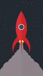rocket minimal 4k ws 1080x1920 169x300 - Pack de Fondos de Pantalla Minimalistas (+100 Imagenes)