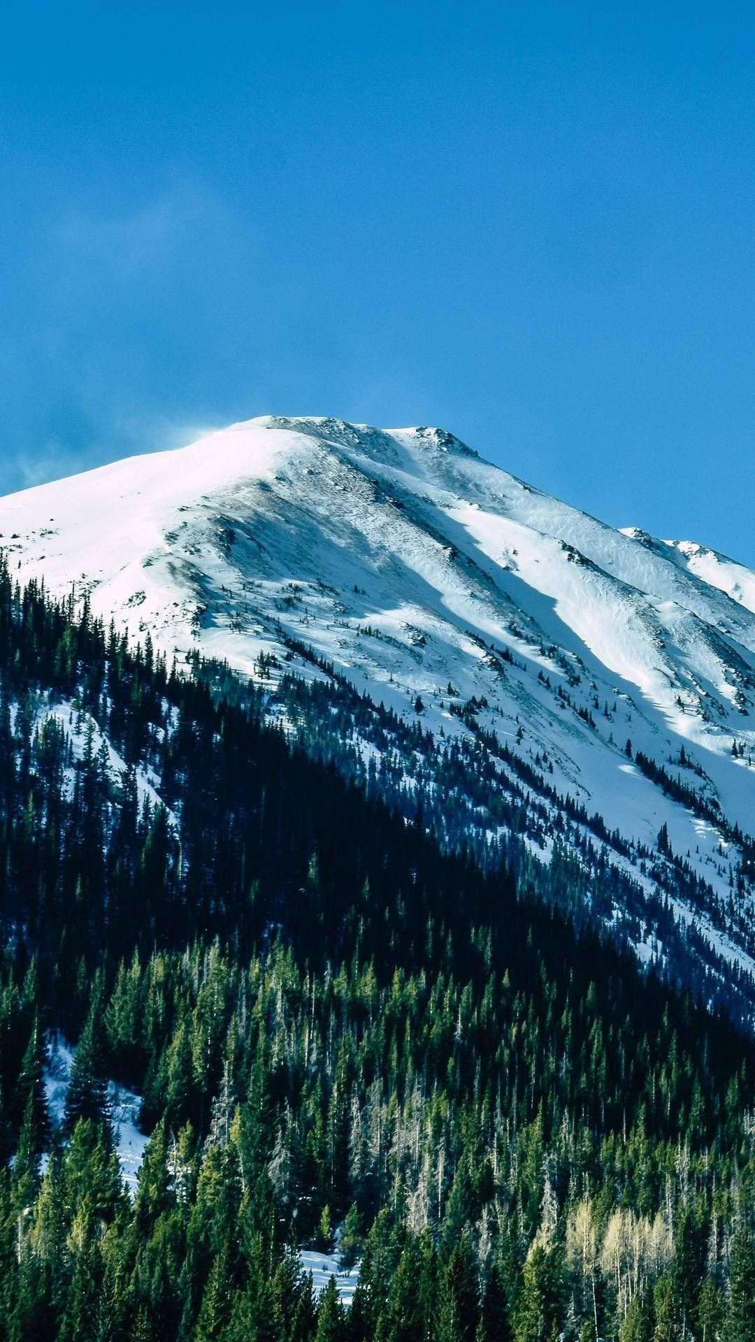 snow capped mountains daylight 5k fk 1080x1920 1 - Pack de Fondos de Pantalla de Montañas