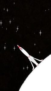 space rocket minimal art 4k 30 1080x1920 169x300 - Pack de Fondos de Pantalla Minimalistas (+100 Imagenes)