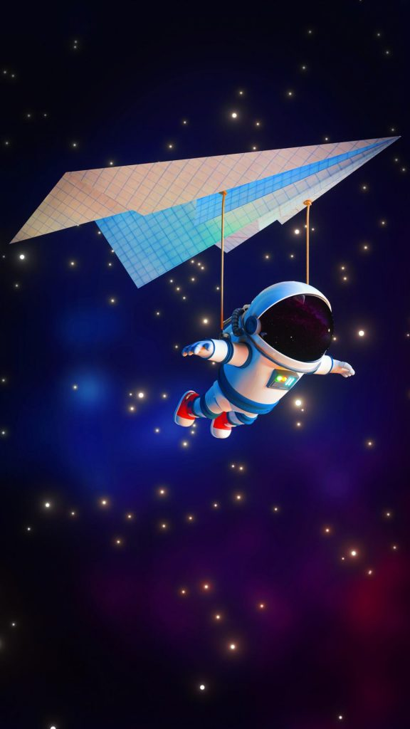 astronaut minimal 4k 8f 1080x1920 1 576x1024 - 15 Fondos de Pantalla de Astronautas