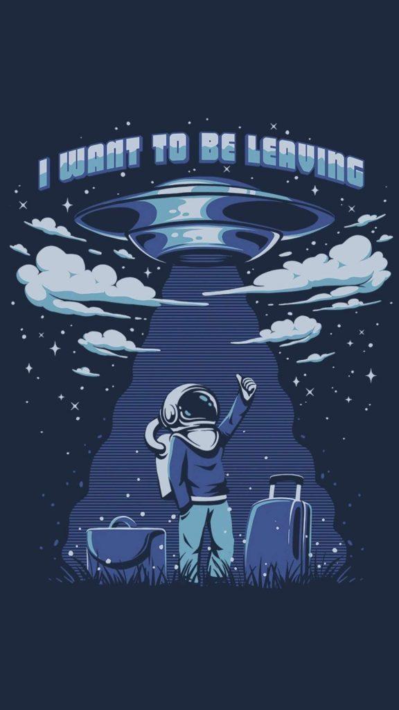 astronaut ufo minimalism 5u 1080x1920 1 576x1024 - 15 Fondos de Pantalla de Astronautas