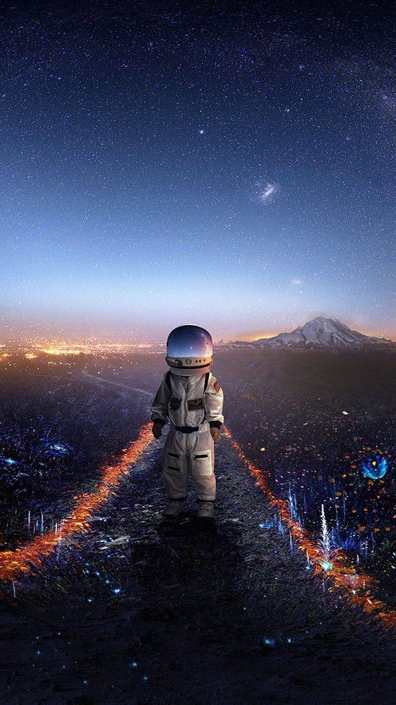 astronaut art space 129529 1080x1920 576x1024 - 40 Fondos de Pantalla de el Espacio
