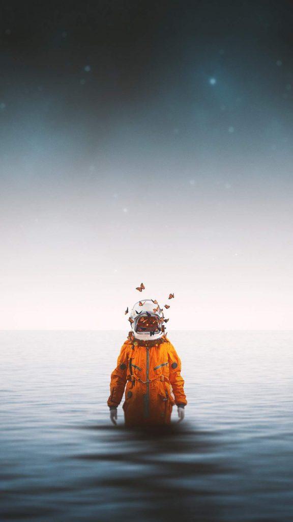astronaut spacesuit butterflies 121755 1080x1920 576x1024 - 15 Fondos de Pantalla de Astronautas