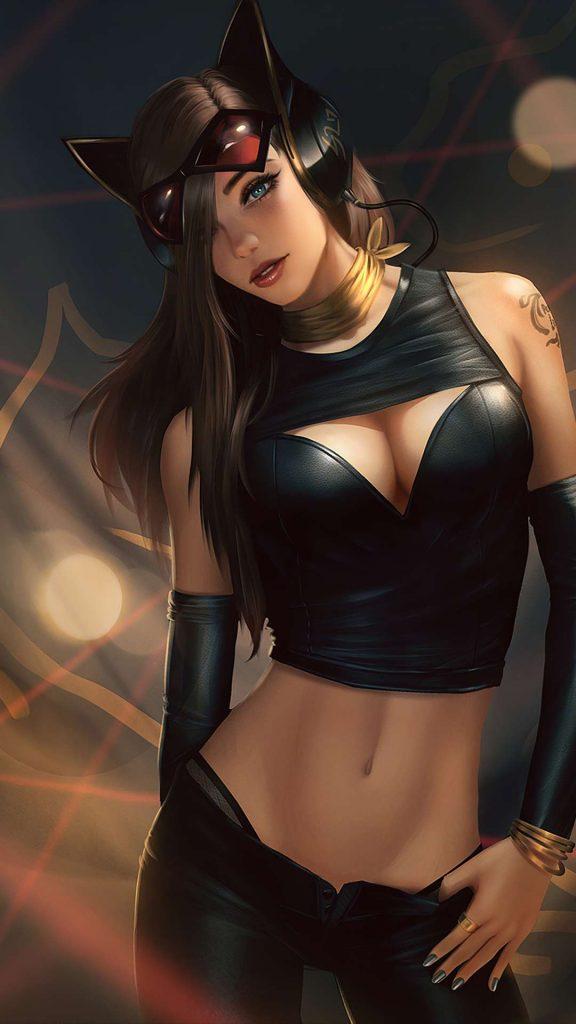 catwoman black dress 0d 1080x1920 1 576x1024 - Fondos de Pantalla de Chicas en Arte Digital