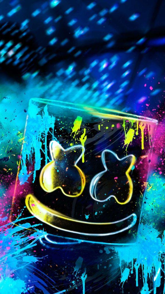 neon marshmello rh 1080x1920 1 576x1024 - Fondos de Pantalla de Marshmello