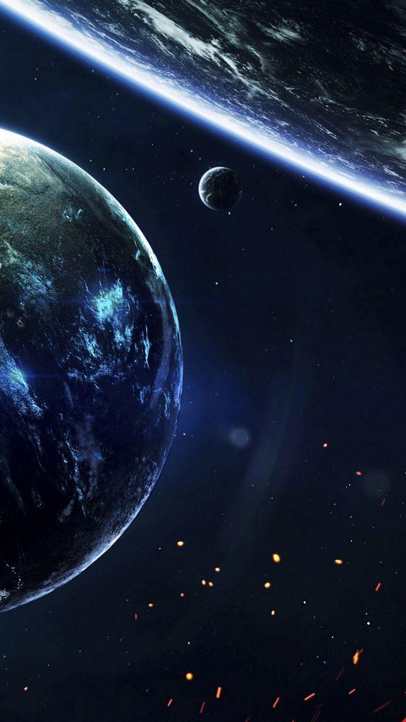 planet lights space 142030 1080x1920 576x1024 - 40 Fondos de Pantalla de el Espacio