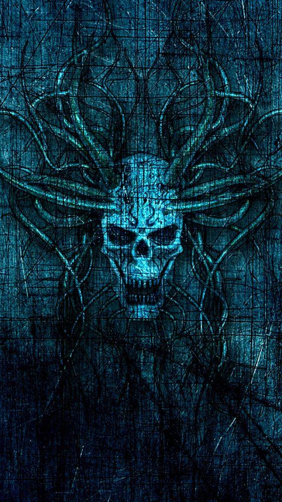 skull horns scratches 128850 1080x1920 576x1024 - 40 Fondos de Pantalla de Craneos
