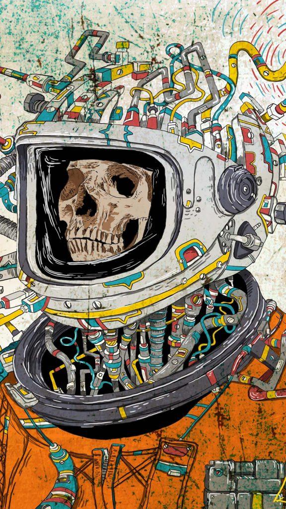 skull space suit art 121221 1080x1920 576x1024 - 40 Fondos de Pantalla de Craneos