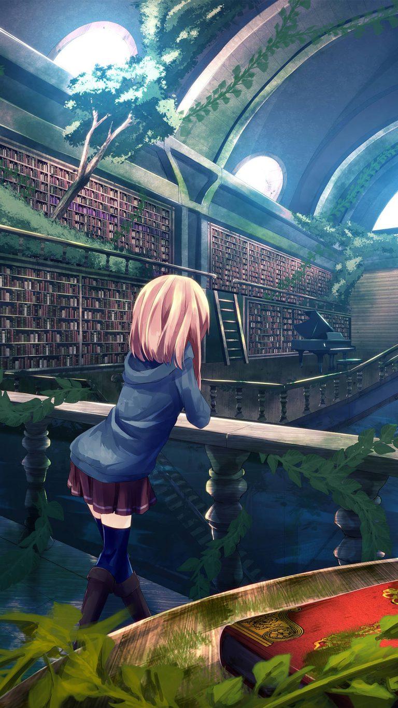 anime girl library ms 1080x1920 1 768x1365 - +84 Fondos de Pantallas femeninos (para chicas)