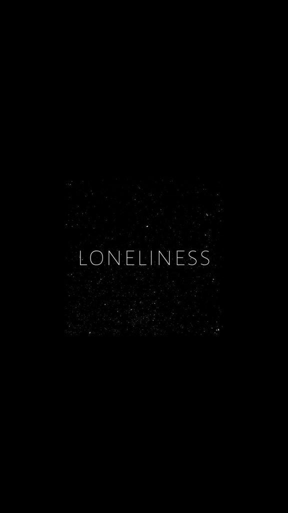 loneliness typography 4k ij 1080x1920 1 576x1024 - 27 Fondos de Pantalla Negros para ahorrar bateria
