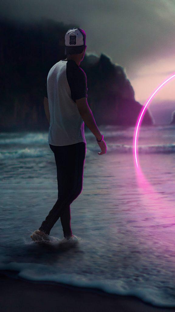 neon path beach boy 4k nm 1080x1920 1 576x1024 - 27 Fondos de Pantalla en alta definicion para tu celular