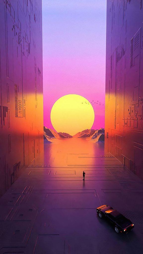 path to vaporwave sun 2d 1080x1920 1 576x1024 - 27 Fondos de Pantalla en alta definicion para tu celular