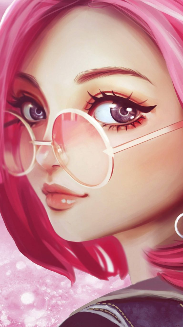 pink hair sun glasses fantasy girl 8k 40 1080x1920 1 768x1365 - +84 Fondos de Pantallas femeninos (para chicas)
