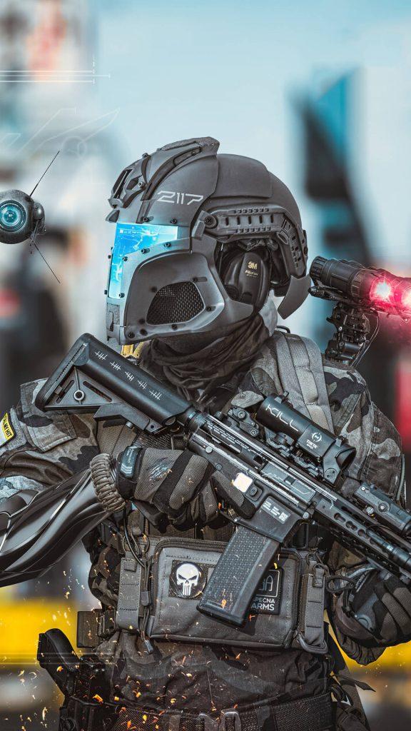 scifi police new london 4k 0m 1080x1920 1 576x1024 - 25 Fondos de Pantalla de los mejores videojuegos para tu celular