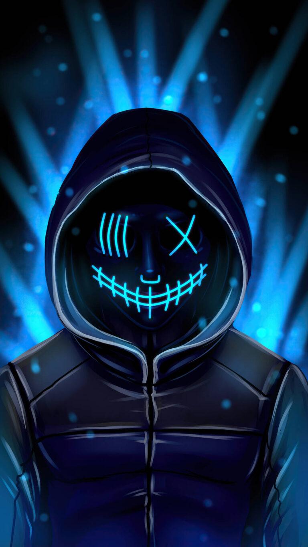 neon mask 4k yh 1080x1920 1 768x1365 - 25 Fondos de Pantalla Neón que harán ver tu pantalla increible