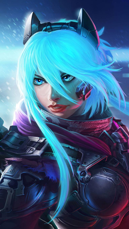 scifi warrior girl 4k 2i 1080x1920 1 768x1365 - 25 Fondos de Pantalla Neón que harán ver tu pantalla increible