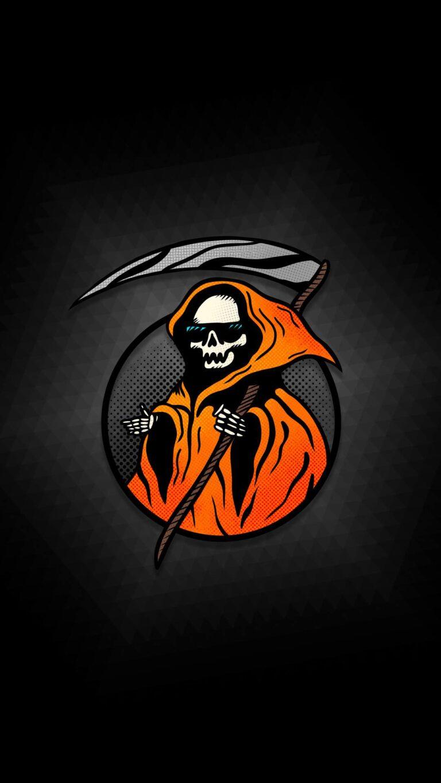 cool grim reaper minimal 8k s7 1080x1920 1 768x1365 - Fondos de pantalla Full Color, Neón y Psicodélicos