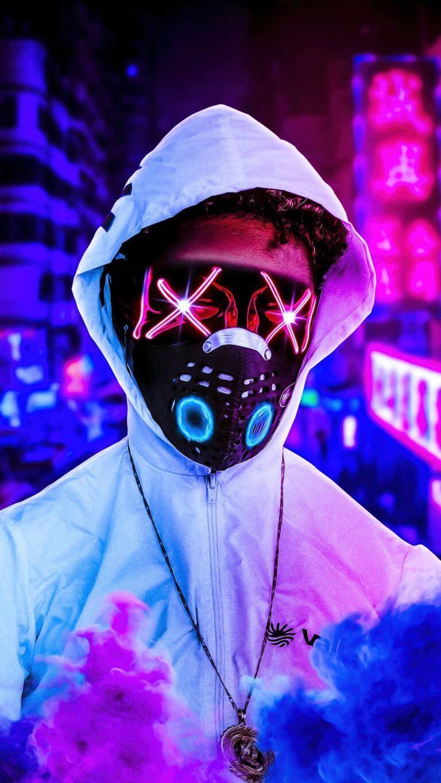 mask x eyes boy 5k 9v 1080x1920 1 768x1365 - Fondos de pantalla Full Color, Neón y Psicodélicos