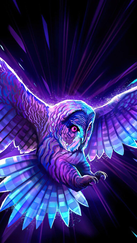 multicolor owl 5k rr 1080x1920 1 768x1365 - Fondos de pantalla Full Color, Neón y Psicodélicos