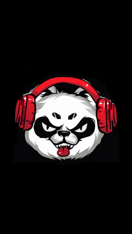 naughty panda minimal 5k av 1080x1920 1 768x1365 - Fondos de pantalla Full Color, Neón y Psicodélicos