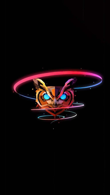 owl minimal justin maller 4k 57 1080x1920 1 768x1365 - Fondos de pantalla Full Color, Neón y Psicodélicos