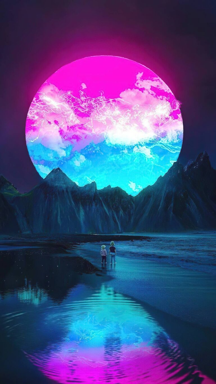 purple supernova n4 1080x1920 1 768x1365 - Fondos de pantalla Full Color, Neón y Psicodélicos