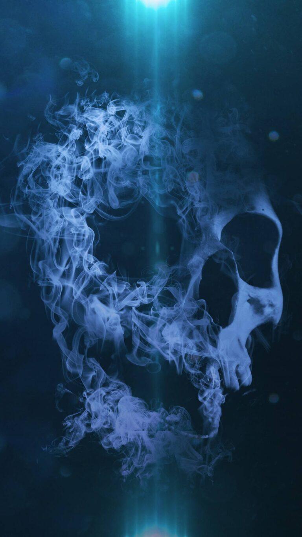 smoke skull 5k vk 1080x1920 1 768x1365 - Fondos de pantalla Full Color, Neón y Psicodélicos